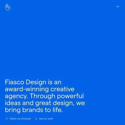 Fiasco Design · An award-winning creative design agency from Bristol