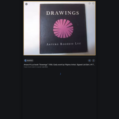 """Title: Arturo R Luz book """"Drawings"""" 1956. Early work by Filipino Artist. Signed Ltd Edn   #1793279701"""