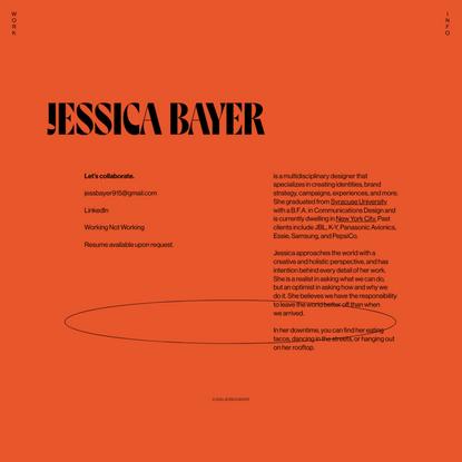 Jessica Bayer — Info