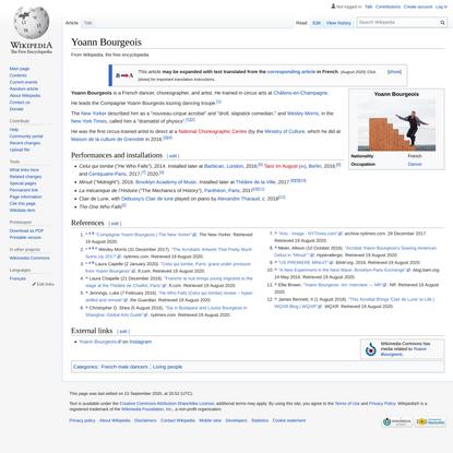 Yoann Bourgeois - Wikipedia