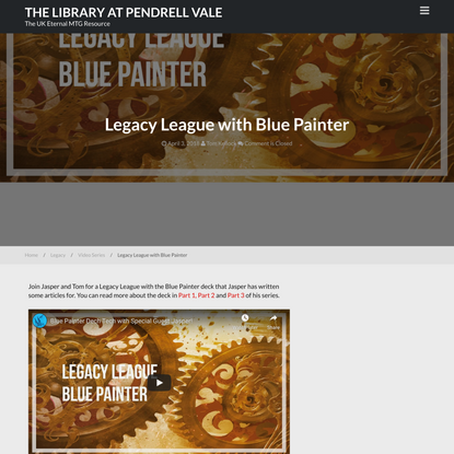 Legacy League with Blue Painter - The Library at Pendrell Vale