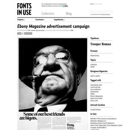 Ebony Magazine advertisement campaign