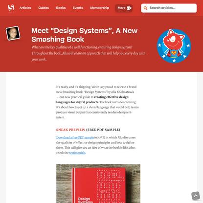 "Meet ""Design Systems"", A New Smashing Book — Smashing Magazine"