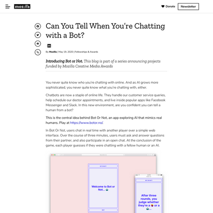 Can You Tell When You're Chatting with a Bot?