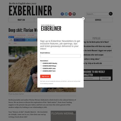 Deep shit: Florian Werner