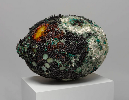 the bejeweled rotting fruit sculptures of kathleen ryan exhibited online at karma gallery
