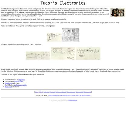 DAVID TUDOR: Electronics