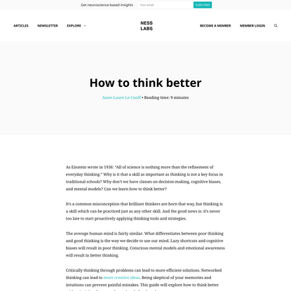 How to think better: the complete guide - Ness Labs