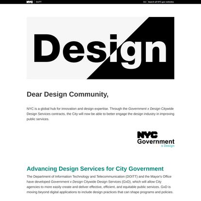 NYC Government x Design