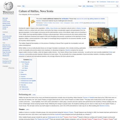 Culture of Halifax, Nova Scotia - Wikipedia