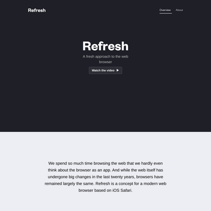 Refresh – A fresh approach to the web browser