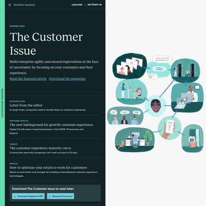 The Customer Issue | Workflow Quarterly