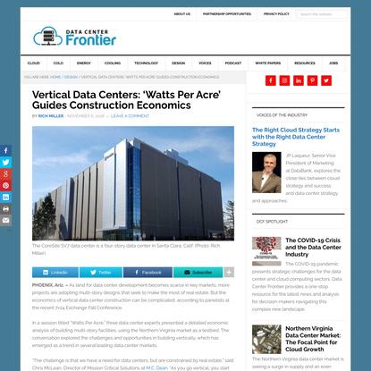 Vertical Data Centers: 'Watts Per Acre' Guides Construction Economics