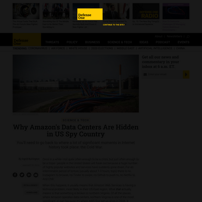 Why Amazon's Data Centers Are Hidden in US Spy Country