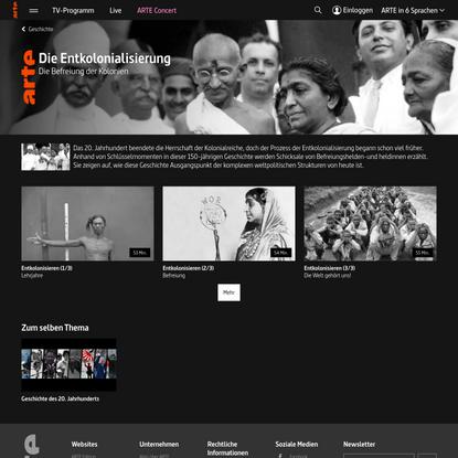 Die Entkolonialisierung - Geschichte | ARTE
