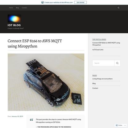 Connect ESP 8266 to AWS MQTT using Miropython
