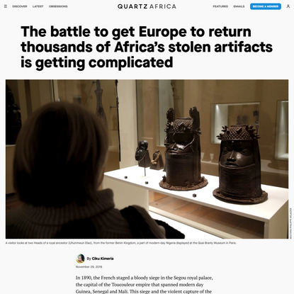 The battle to get Europe to return thousands of Africa's stolen artifacts is getting complicated