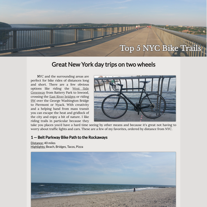 Best Bike Rides near New York City