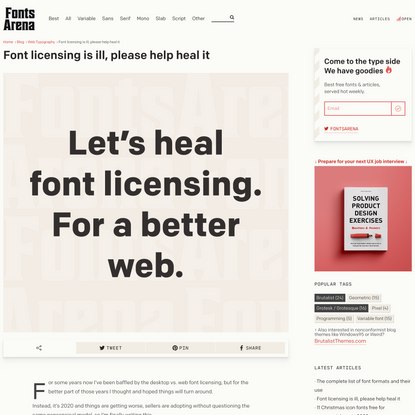 Font licensing is ill, please help heal it — FontsArena