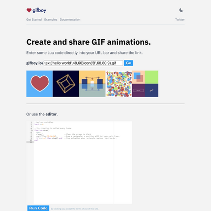 Create and share GIF animations.
