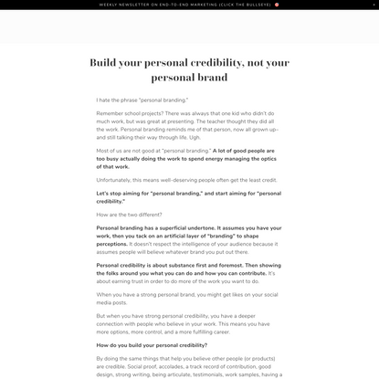 Wes Kao — Build your personal credibility, not your personal brand