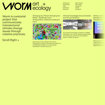 Worm: art + ecology