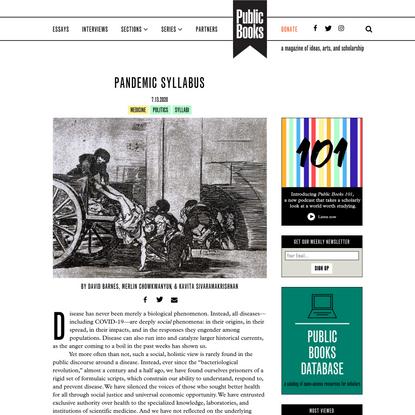 Pandemic Syllabus | Public Books