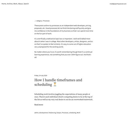 Processes — Piper Haywood