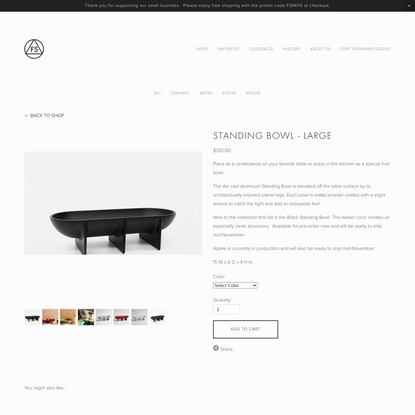Standing Bowl - Large — FS Objects