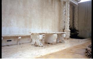 Marble table at Villa d'Este, Rome / Tivoli (image from 2012)
