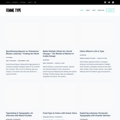 FEMME TYPE – Celebrating Women in the Type Industry