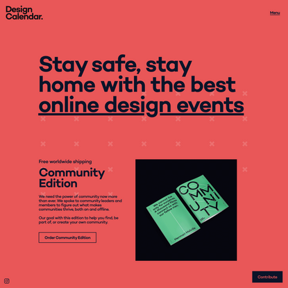 Design Calendar – The best design events in the world