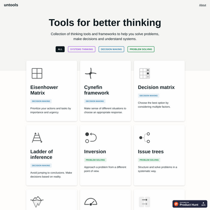 Tools for better thinking