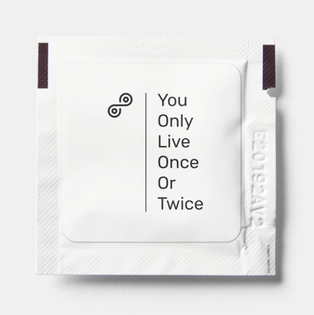"""You Only Live Once Or Twice"" hand sanitizer packet set of 10 Ethyl Alcohol 70%"