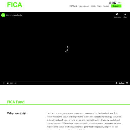 Fundo FICA – Fundo Imobiliário Comunitário para Aluguel + moradia acessível + propriedade comunitária + aluguel social – esp...