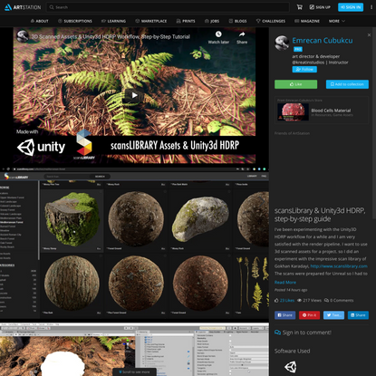 scansLibrary & Unity3d HDRP, step-by-step guide, Emrecan Cubukcu