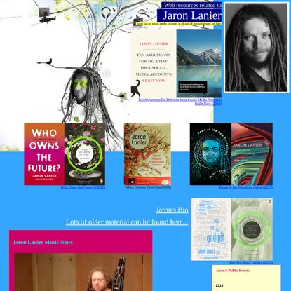 Jaron Lanier's Homepage