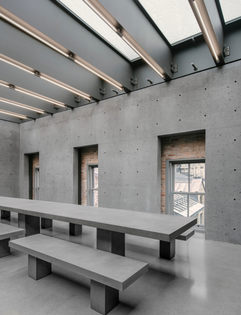 David Chipperfield Architects, cafeteria at SSENSE Montreal, 2015–2018