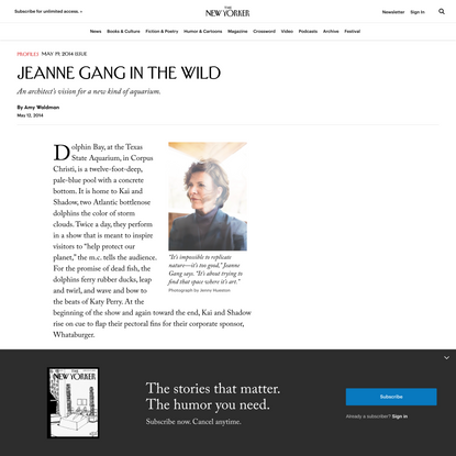 Jeanne Gang in the Wild