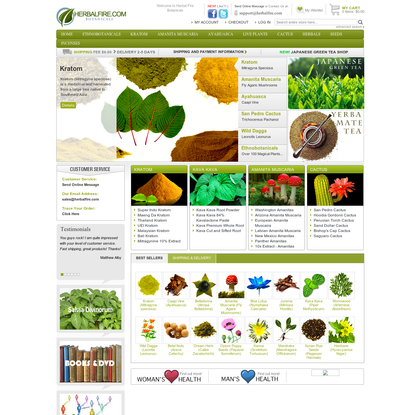Herbal Fire Botanicals : Kratom, San Pedro Cactus, Ayahuasca, Amanita Muscaria and many more!