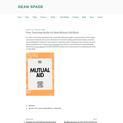 Free Teaching Guide for New Mutual Aid Book