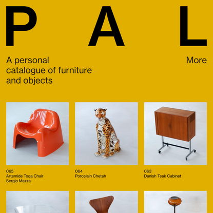 PAL - A personal catalogue of furniture and objects.