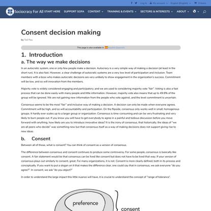 Consent decision making - SoFA