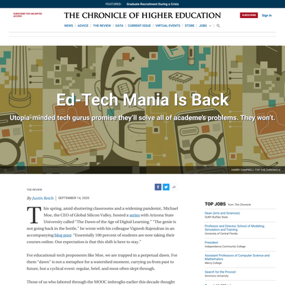 Opinion | Ed-Tech Mania Is Back