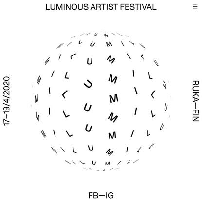 Luminous Artist Festival | 17–19/4/2020 Ruka—FIN
