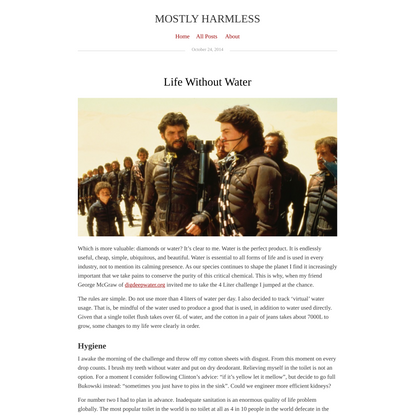 Life Without Water | Mostly Harmless