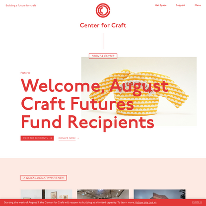 Center for Craft: Building a Future for Craft