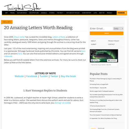 20 Amazing Letters Worth Reading