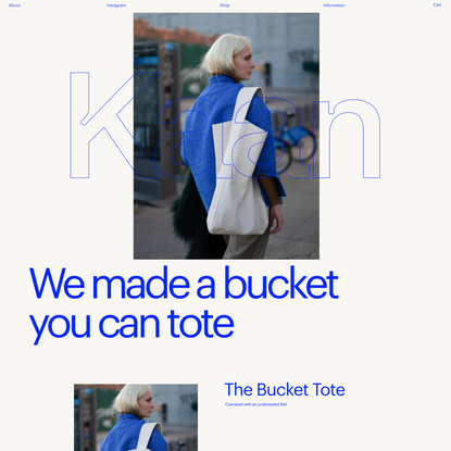 Website for Kaan bags
