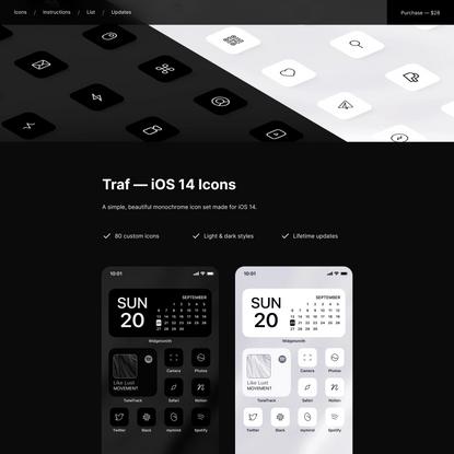 Traf — iOS 14 Icons